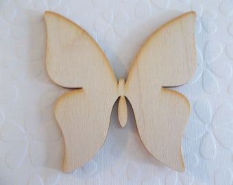 Wood Butterfly Shape - 4 inch - Wood Embellishment - Wood Wall Art - Wooden Shape - Butterfly Cut-Out - Craft Wood Shape
