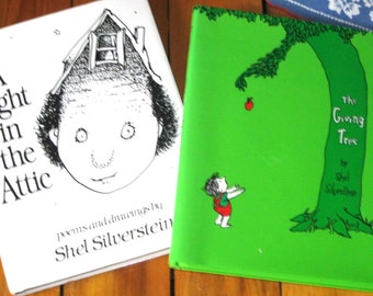 Shel Silverstein Hardcover Books with Dustcovers/Light in the Attic/ The Giving Tree