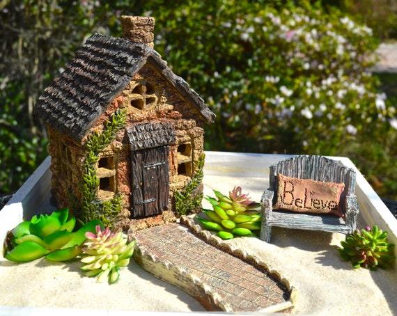 Miniature Garden Kit Fairy Garden Starter Set Rustic