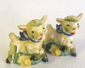Sweet Lil' Baby Lambs Salt & Pepper Pair- Vintage Japan