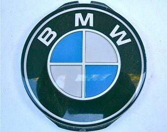 Vintage 70s 80s BMW Steering Wheel Horn Emblem Round 320i 1978 To 1983 OEM Original Equipment Manufacturer Car Restoration Project Man Cave