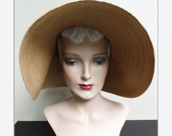 Vintage 1980s Hat//80s Hat//Patricia Underwood//Large Brim Hat//Designer