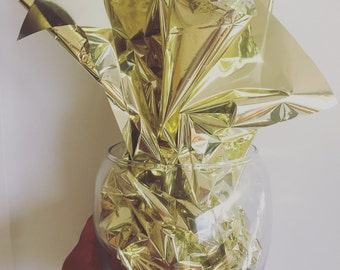 Metallic Film Sheets, Gold or Silver, Gift Packaging, Mylar Sheets, Mylar Cello Sheets, Gold Metallic Film, Silver Metallic Film