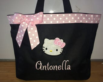 Personalized Girl Hello Kitty Tote Bag Baby Diaper Bag