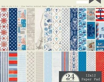 "Authentique Paper Collection ""Seafarer"" 12x12 Pad"