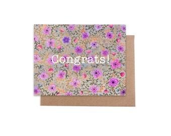 Congrats! Card 4 x 5 - Blank