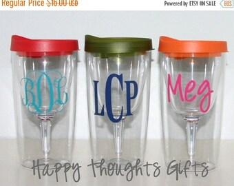 CLEARANCE SALE Monogrammed Vino2Go Glass - Acrylic Wine Glass - Travel Wine Glass