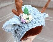 Spring Reindeer ( grey ) - Blythe hat.
