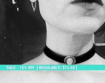 SALE! Christmas SALE,  black velvet choker, black collar