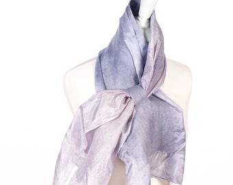 Scarf, seda, seide, silk, small, kate ramsey, felt scarf, fabulousflelt, hand made, shawl, grey