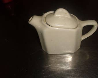 vintage teapot coffee pot halls individual white