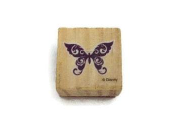 Butterfly Rubber Stamp New Wood Mounted for Scrapbooking Paper Crafting Card Making