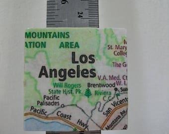 LA Map Magnets / Refrigerator Magnets  /  Los Angeles, CA Map Magnet  /  Fridge Magnets  / Magnet for Home, School, or Office