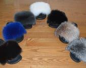 Real Fox Fur Slide Sandals Slippers Slides New