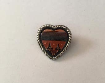 Small Southwestern Heart Pin