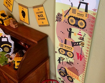 Construction, Truck, Growth, Chart, for Kids, Boys