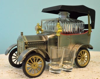 Vintage Bar Set in Model T Car-Musical