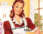 MIKE Custom Order Lined Valances, Panels & Tie backs Retro ATOMIC KITTIES Print