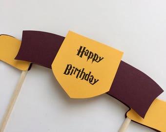 Harry Potter Cake Topper, Hogwarts Birthday cake topper, Harry Potter birthday cake topper