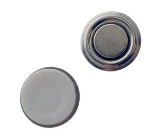 5 Small Round Button & Badge Magnets Free Shipping!! -- Strong Magnetic Name Tag ID Holders -  Sticker Adhesive Backing (SPID-9510-Q5)