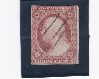 3 Cent Washington 1850's Imperforate US Postage Stamp