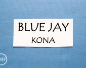 One Yard Blue Jay Kona Cotton Solid Fabric from Robert Kaufman, K001-196