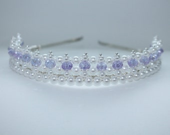 Pretty Little Purple Tiara, Princess Tiara, Birthday Tiara, Flower Girl Tiara