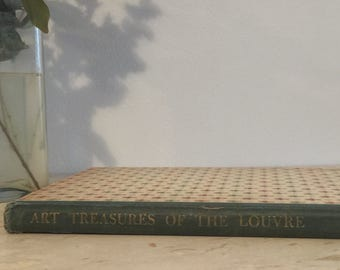 Vintage Art Treasures of the Louvre Book