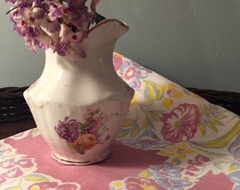 Precious antique vintage spring timey tablecloth lavendar cute for Easter! Can be used as is or great cutter! Happy Spring Etsy friends!