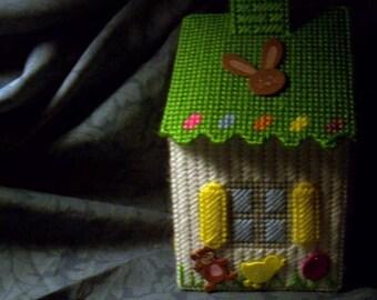 Easter Egg Birdhouse Tissue Box Cover