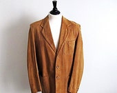 On sale The Californian, Mens Vintage 1950's Tan Suede Jacket