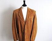 On sale The Californian, Mens Vintage 1950's Tan Suede Jacket