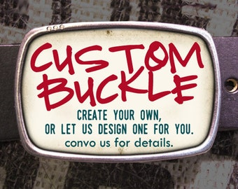 Design Your Own Custom Belt Buckle