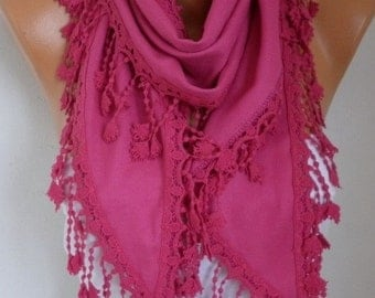ON SALE --- Hot Pink Pashmina Scarf, Summer Wedding Scarf,Cowl Shawl Bridal Accessories Gift Ideas For Her Women Fashion Accessories Women S