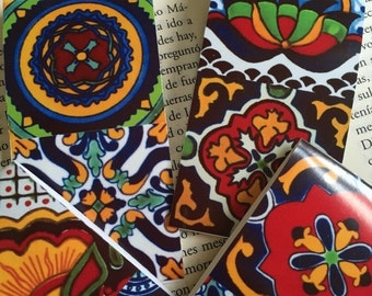ON SALE Magnetic Bookmarks (2) Mexican talavera designs Free Shipping set of 2
