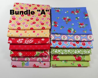 Pam Kitty fabric bundle 13 fat quarters--HTF and OOP Lakehouse