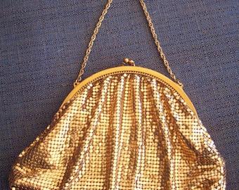 Gold Metal Mesh Handbag by Whiting & Davis