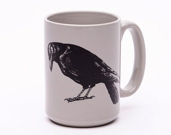 Crow Mug - Coffee Cup - Macabre - Coffee Cup - Raven Mug - Bird Lover - Gift for Friend