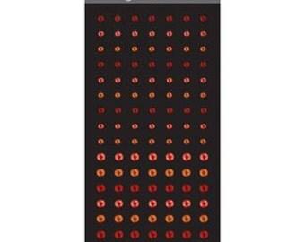 Red Adhesive Gems, Mini Round Gems Red