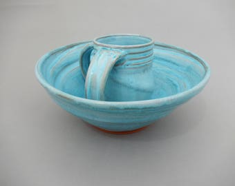 Pottery Washing Cup and Bowl - Passover Negel Vasser and Bowl - Netilat Yadayim
