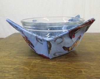 Microwave Bowlder (Bowl Holder) - Western Blue