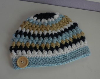 Ready to SHIP!/Boys Beanie Cap/size 12-24 months