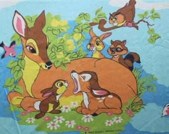 Vintage Disney's Bambi Twin Flat Sheet