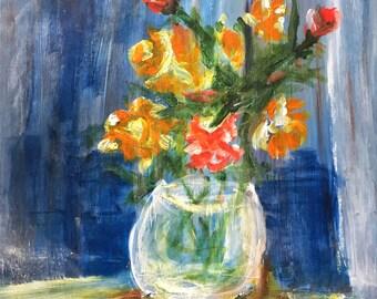 Original Painting: Still Life in Blue