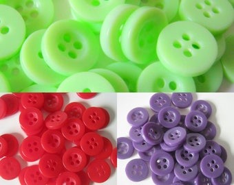 11.5 mm Resin Buttons, Four Hole Resin Buttons, Sewing, Crafts, Knitting, Crochet, 25 buttons