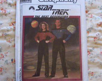 Simplicity 9394 80s Star Trek Next Generation Costume Pattern FF Unisex Jumpsuit Sz 34-44
