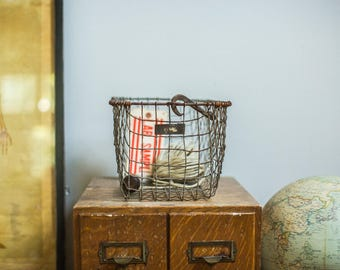Mid Century Gym Locker Wire Basket American Wire Form