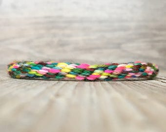 Hippie cord bracelet - Braided Cord Bracelet - made with hand dyed yarn