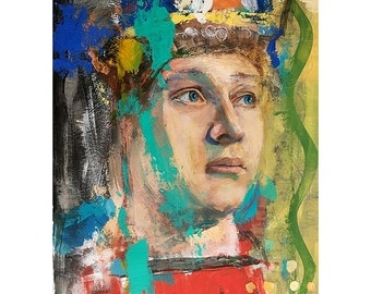 Original Oil Painting on paper, Figure painting, Original Figure painting,  Portrait of a young young man, YP 11 by 14 inches