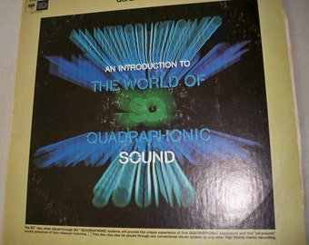 """Vintage 1973 """"An Introduction To The World Of Quadraphonic Sound"""" Record Album - Very Cool"""